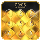 Luxury Gold Keypad Lock Screen APK for Bluestacks