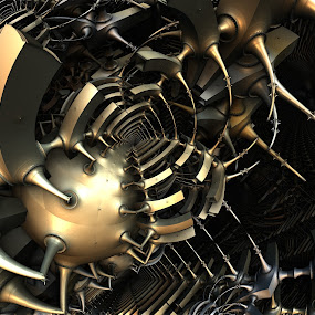 Egregious Malintent by Ricky Jarnagin - Illustration Abstract & Patterns ( abstract, ricky jarnagin, mandelbulb, dsynegrafix, 3d art, fractal )