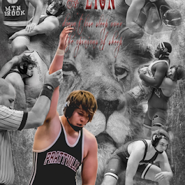 Kyle Nix Senior Composite by Jackie Nix - Sports & Fitness Other Sports ( sports, composite, design, black and white, wrestling, poster,  )