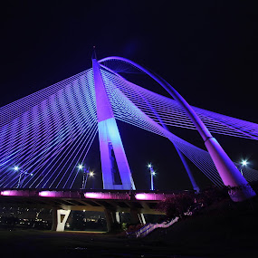 Seri Wawasan Bridge by Lolit Whorlow - Buildings & Architecture Bridges & Suspended Structures ( lights, bridge )