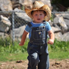 Little Cowboy by Timothy Stevenson - Babies & Children Children Candids