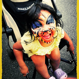 by Wendy Delgado - Babies & Children Child Portraits ( face, tiger, zoo, color, baby, cute, toddler )