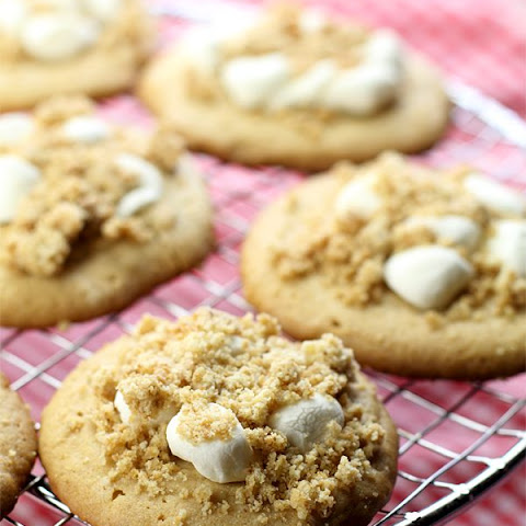 Peanut Butter Cookies with Marshmallow Peanut Crumb Topping