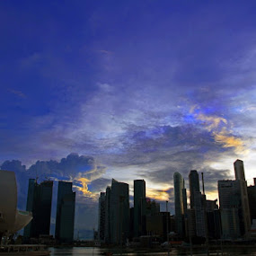 The Marina bay twilight by Fajar Krisna - City,  Street & Park  Vistas ( marina bay, singapore )