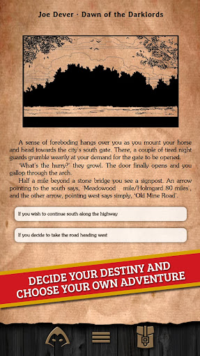 Rise of the Darklords Gamebook - screenshot