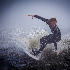 Wave Rider by Prentiss Findlay - Sports & Fitness Surfing ( ocean sports, surfing, water sports, surfer, beach sports )
