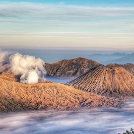 Spill Clouds by Sugiarto Wijaya - Uncategorized All Uncategorized ( clouds, b29, volcano, b30, indonesia, east java, probolinggo, spill, lumajang, bromo, wonderful )