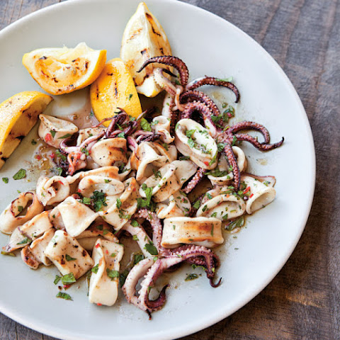 Quick Grilled Squid Salad