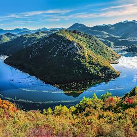 Autumn magic by Bojan Kuburovic - Landscapes Travel ( montenegro, magic, mountain, nature, color, autumn, forest, lake, landscape, river )