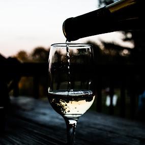 pouring wine by Tim Hauser - Artistic Objects Still Life ( wine, still life, art, wine glass, glass, fine art, wine bottle, bottle )