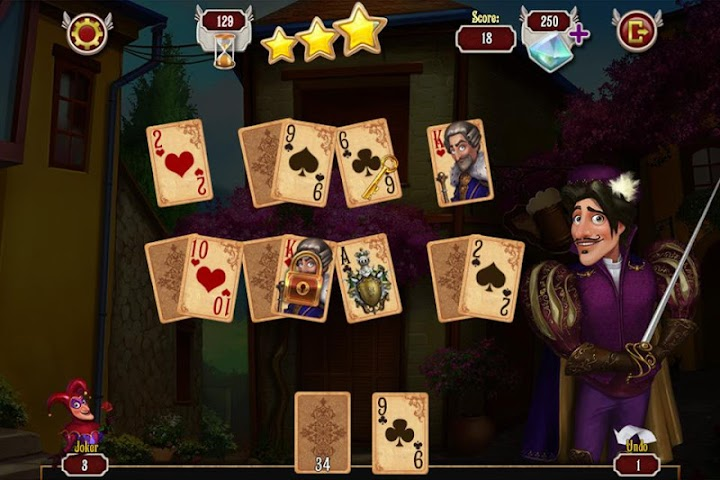 android Mousquetaire Solitaire Gratuit Screenshot 3