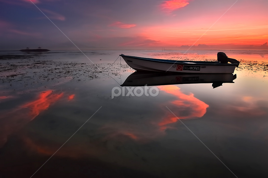 lonely boat by Dody Herawan - Landscapes Sunsets & Sunrises