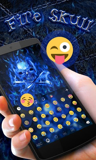 FireSkull GO Keyboard Theme screenshot 2