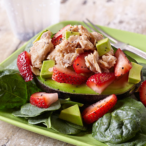 Salmon Salad with Strawberries & Avocado