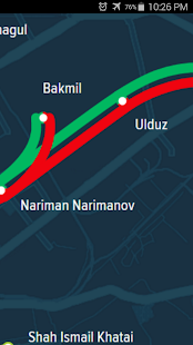 Baku Metro Map - screenshot