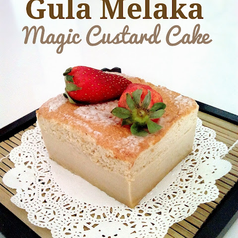 Gula Melaka Magic Custard Cake