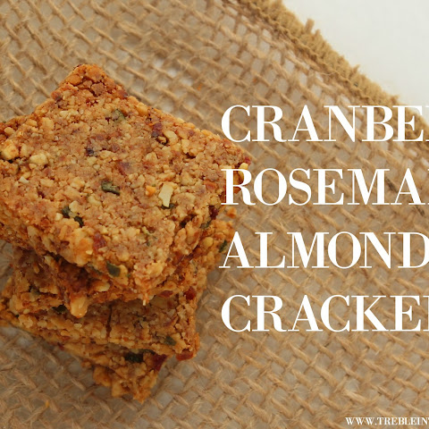 Cranberry Rosemary Almond Crackers