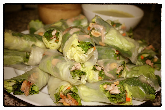 Fresh vietnamese spring rolls - The assembly