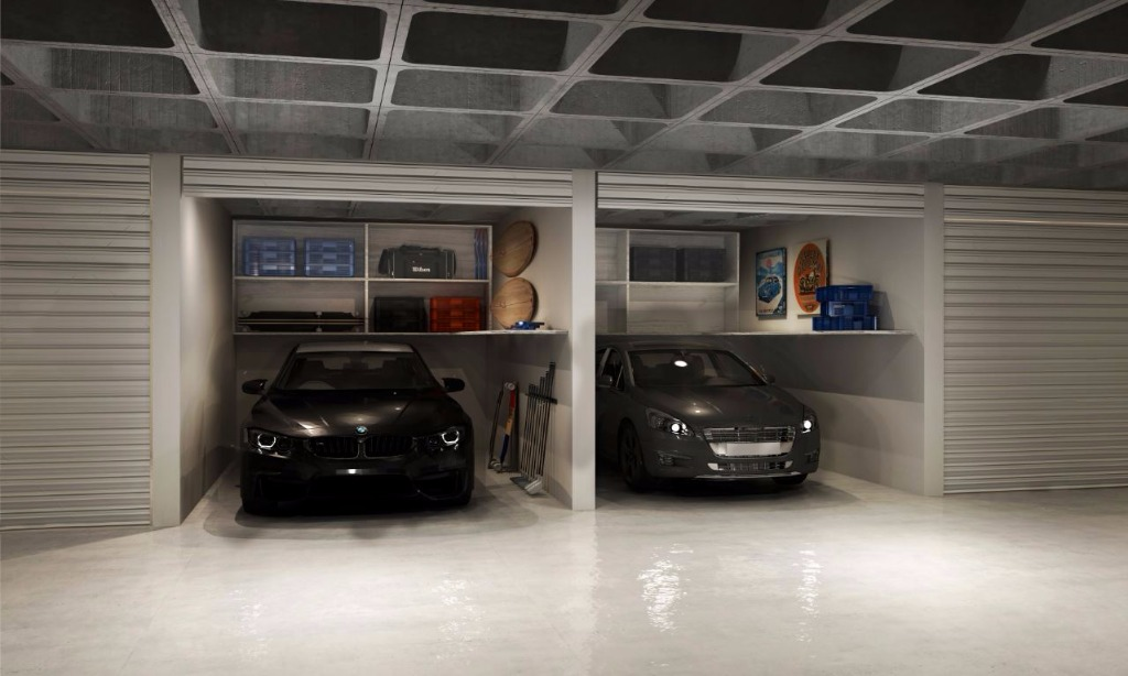 Perspectiva da Garagem Box