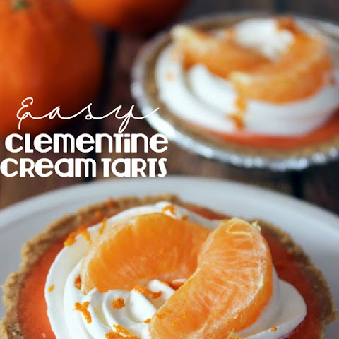 Easy Clementine Cream Tarts