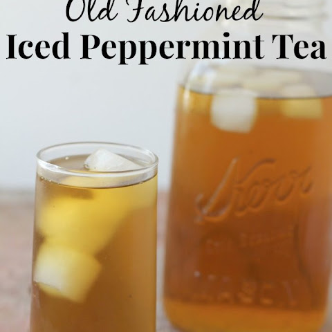 Ice Cold Peppermint Tea