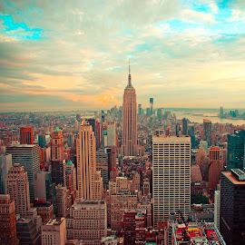 NYC by Carson Satchwell - City,  Street & Park  Skylines ( new, empire, state, york, nyc, city )