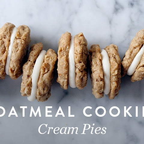 Oatmeal Cookie Cream Pies