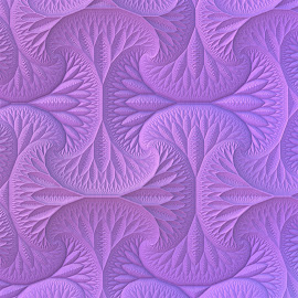 Lavender by Lyle Hatch - Illustration Abstract & Patterns ( eye candy, pattern, lilac, purple, 3d, tessellations, mandelbulb 3d, 3-d, fractal, lavender, light, shadows, rendering, three dimensional )