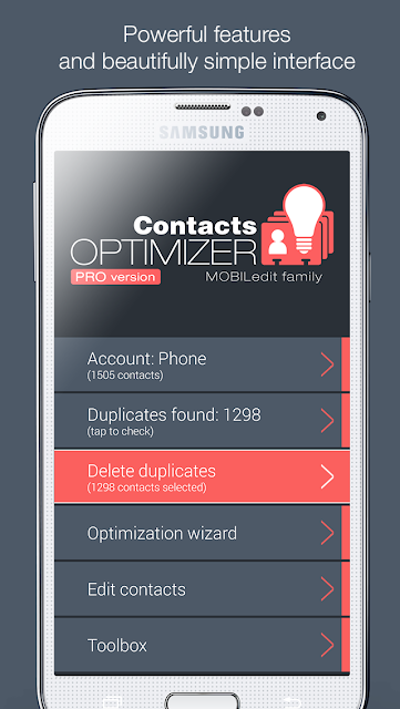 Contacts Optimizer screenshots