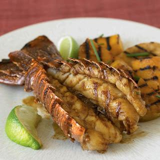 Sweet Soy Lobster Tail with Grilled Tropical Fruit