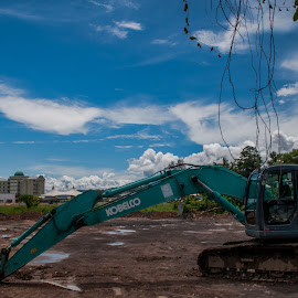 Excavator by Ted Khiong Liew - Transportation Other