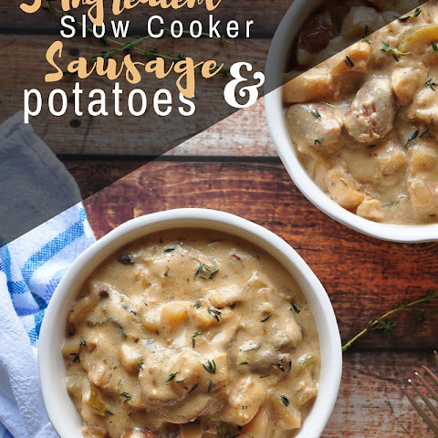 5-Ingredient Slow Cooker Sausage and Potatoes