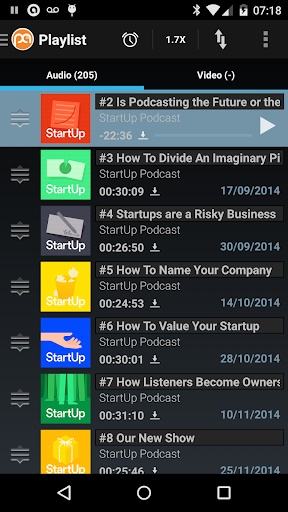 Podcast Addict (Android 2.3) screenshot 5