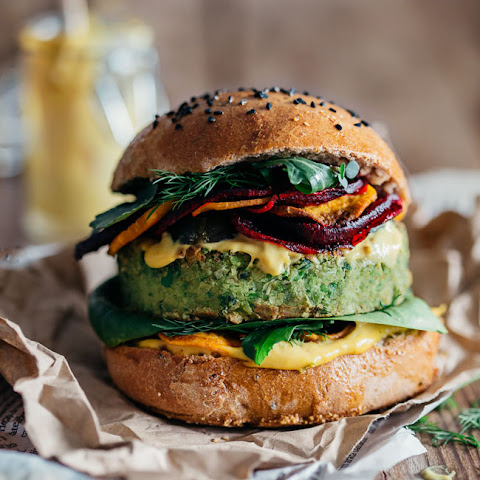 Monster Vegan Burger by Ellie Goulding and Jamie Oliver