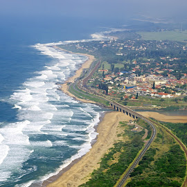 Aerial View of Umkomaas KZN by Ingrid Anderson-Riley - Landscapes Beaches (  )
