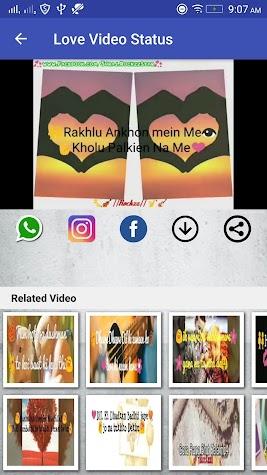 Love Video Status Screenshot
