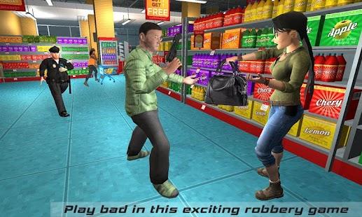 Supermarket Robbery Crime Mad City Russian Mafia Für PC Windows & Mac