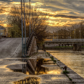 After the rain by Bojan Bilas - City,  Street & Park  Street Scenes (  )