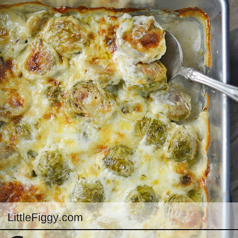 Creamy Brussel Sprouts Au Gratin