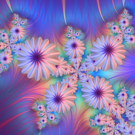 Flowers 4 by Cassy 67 - Illustration Abstract & Patterns ( abstract, colorful, digital art, wallpaper, fractal, flowers, fractals, digital, rainbow, flower )