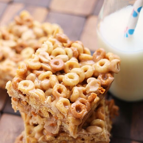 No Bake Peanut Butter Cheerio Bars
