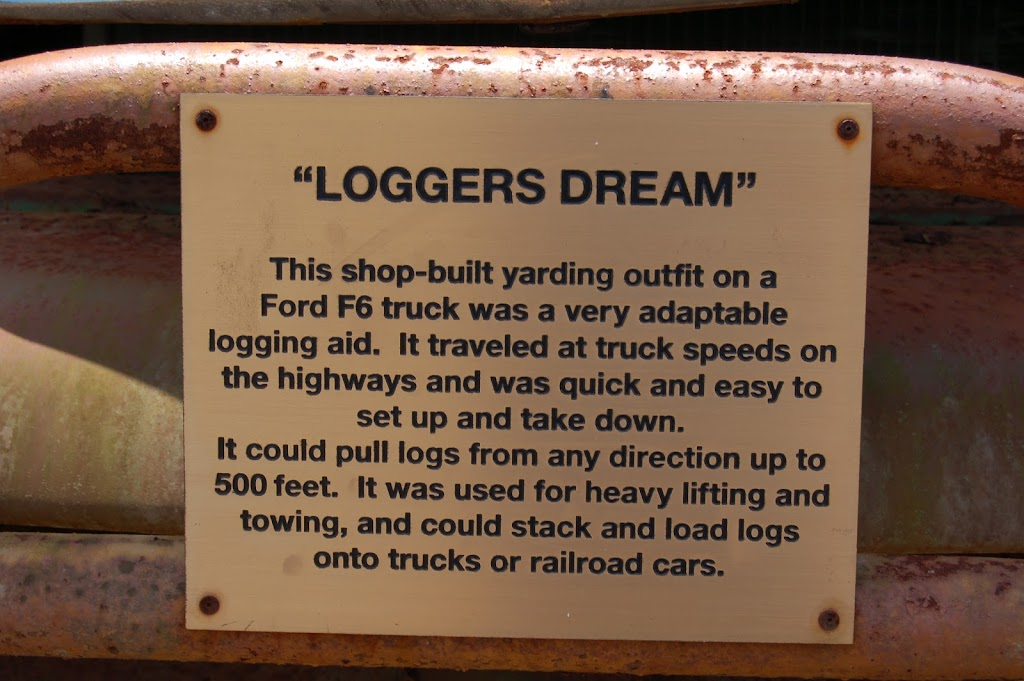 This shop-built yarding outfit on a Ford F6 truck was a very adaptable logging aid. It traveled at truck speeds on the highways and was quick and easy to set up and take down.It could pull logs from ...