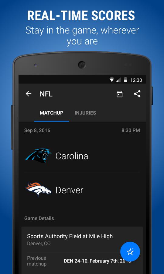 theScore: Sports Scores & News Screenshot 1