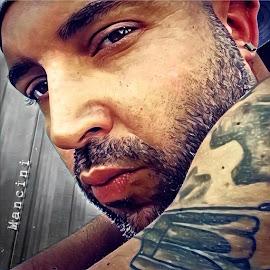 The stare by Paul Gibson - Digital Art People ( model, boston, male, tattoo, man )