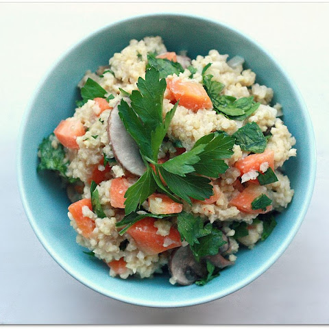 Millet with Carrots, Mushrooms and Parsley