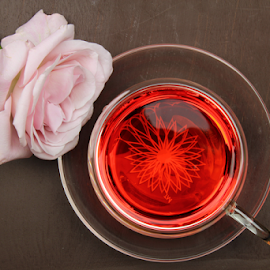 A cup of tea by Dipali S - Food & Drink Alcohol & Drinks ( raw, homeopathic, cup, aroma, aromatic, daisy, leaf, beauty, tea, taste, blossom, mug, drink, glass, transparent, flower, wild, refreshment, beautiful, mint, bloom, relaxation, health, morning, rose, organic, sweet, beverage, herb, hot, medicinal, herbal, natural, therapy, scented )