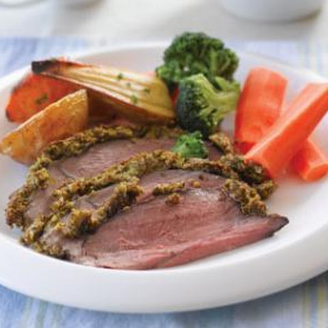 Roast Beef With Herb Crust