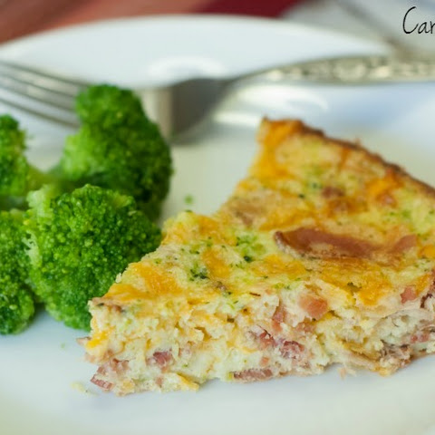 Broccoli & Ham Breakfast Quiche