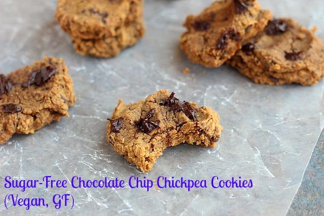 Sugar-Free Chocolate Chip Chickpea Cookies (Vegan, GF) Rezept | Yummly