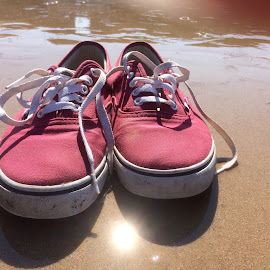 Shoes off, paddle time by Pete Stuchbury - Artistic Objects Clothing & Accessories